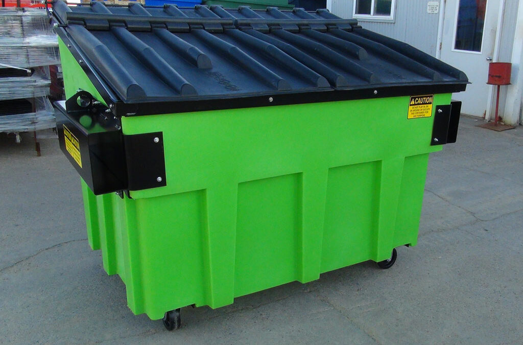 Buy plastic trash dumpsters—and say goodbye to heavy, high-maintenance steel